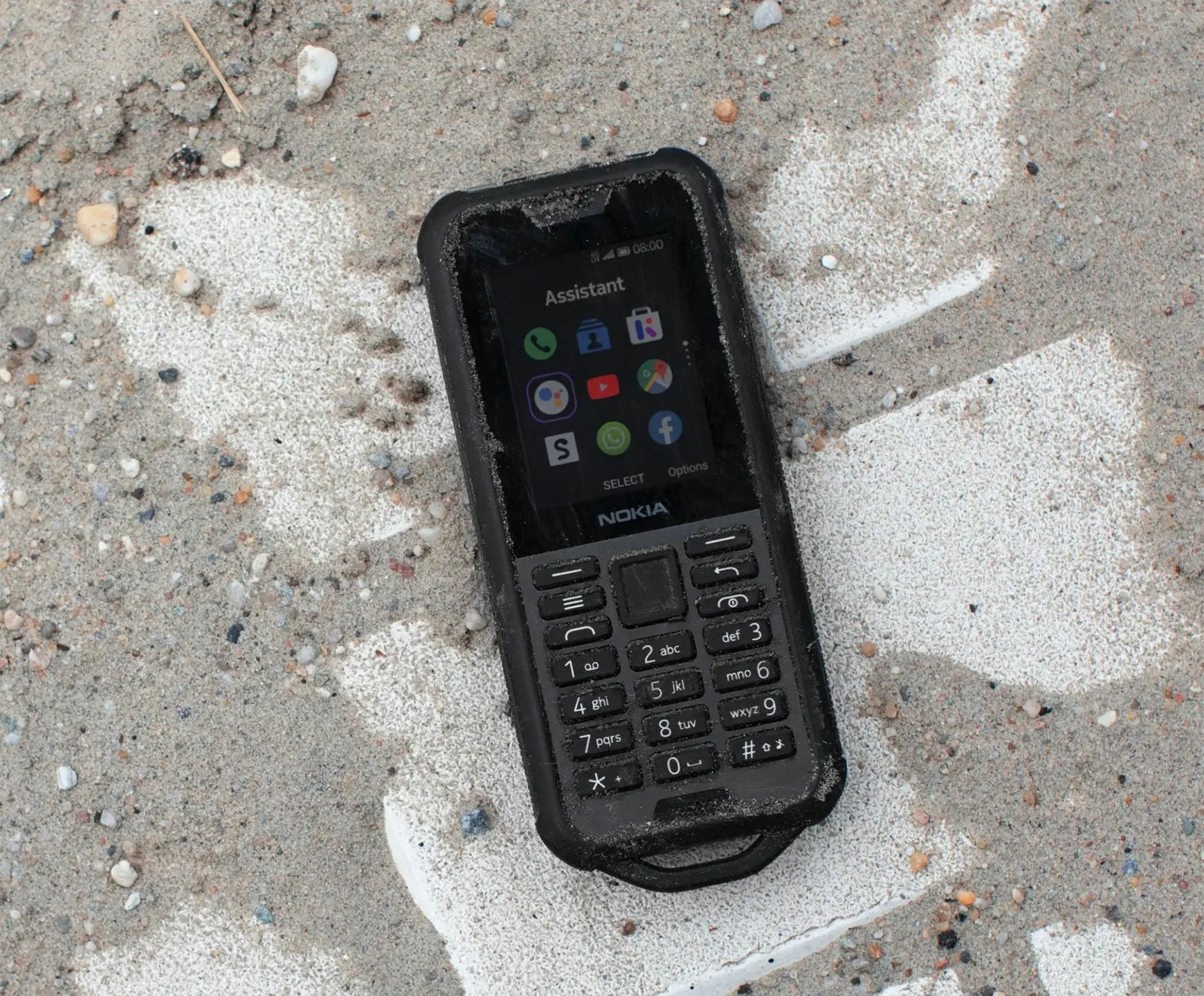 Notebook GSM - Nokia 800 Tough Mobiltelefon, Kártyafüggetlen, IP68, Dual Sim, LTE, Fekete