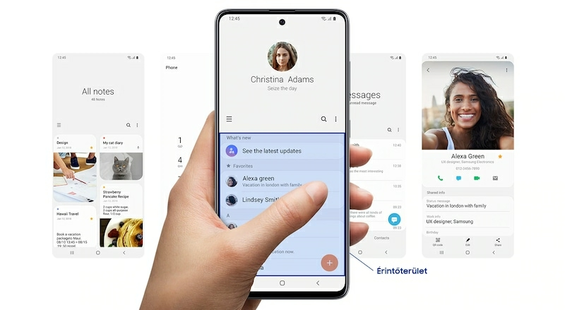 Notebook GSM - Samsung Galaxy A51 Mobiltelefon, Kártyafüggetlen, Dual Sim