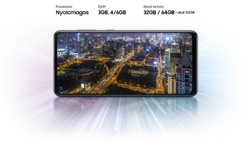 Notebook GSM - Samsung Galaxy A21S Mobiltelefon, Kártyafüggetlen, Dual Sim